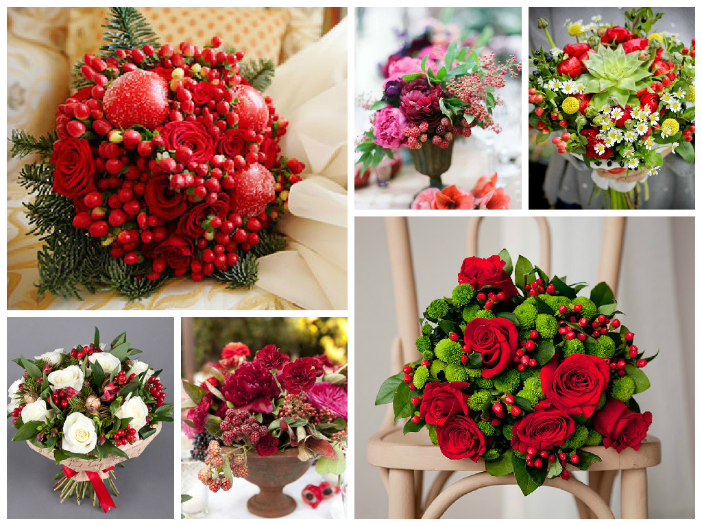 Original Floristry Bouquet With Berries And Fruits