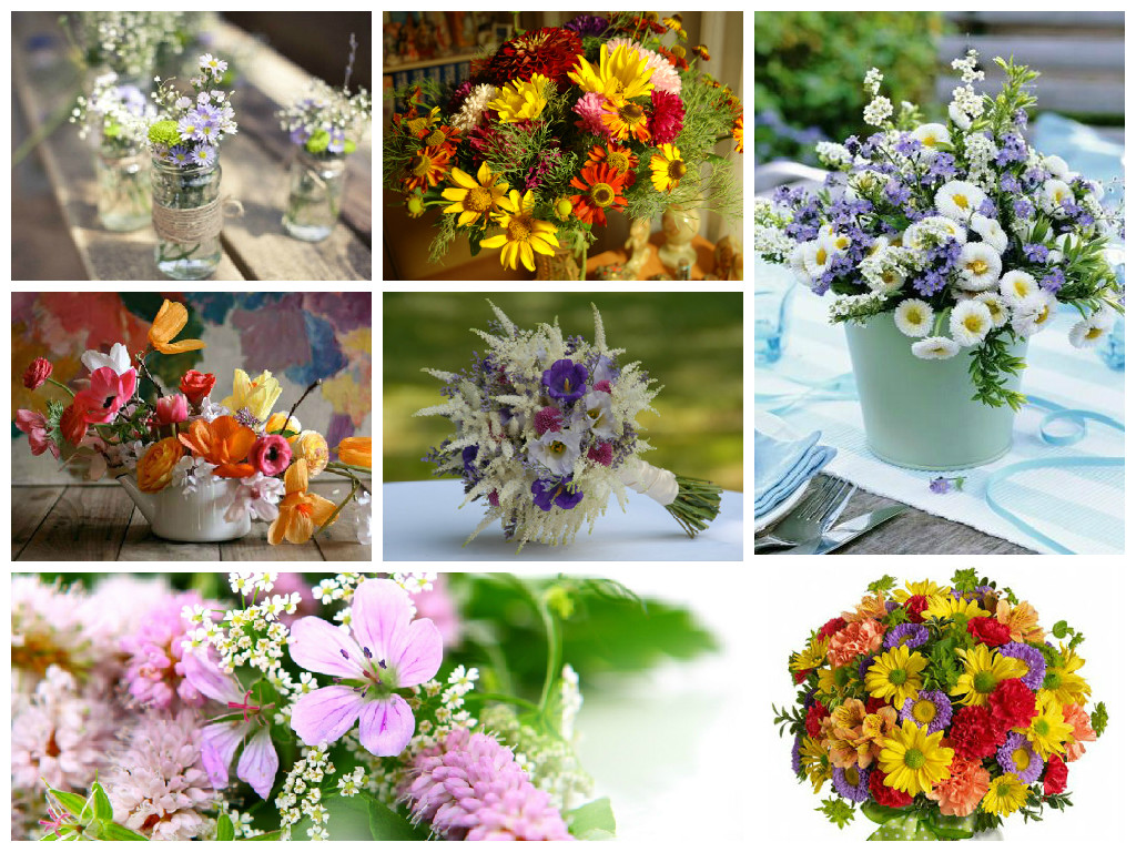 Bouquets with wild flowers