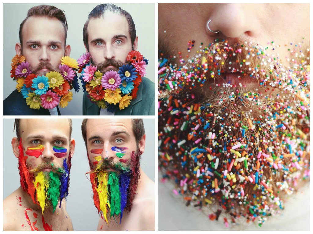 Colorful beards