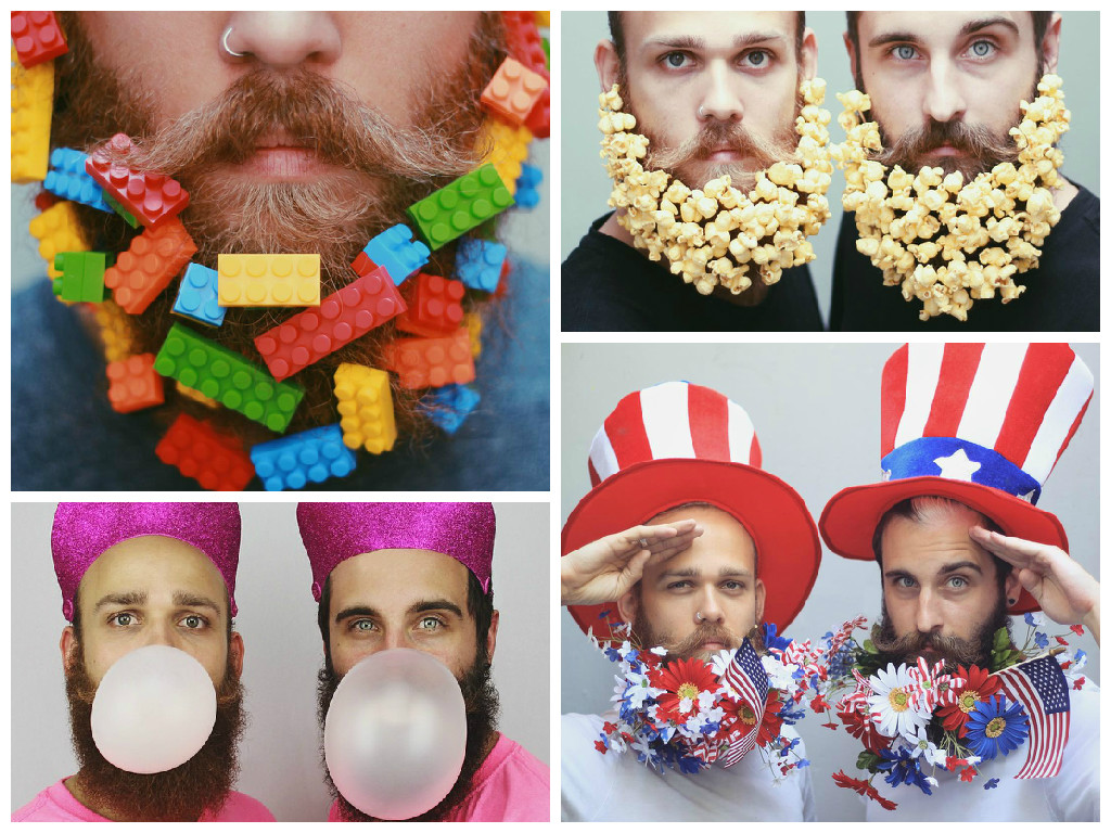 Decorated beards