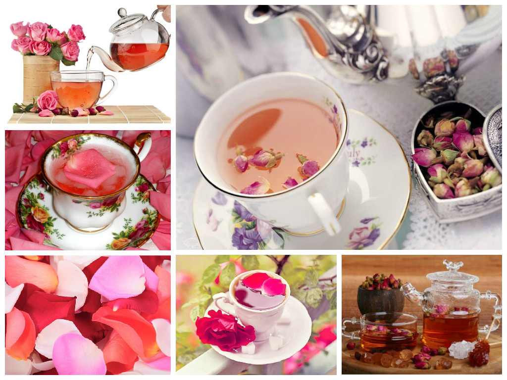 Rose herbal tea