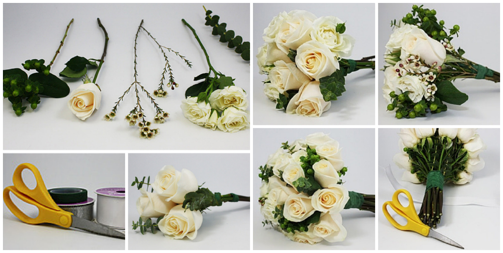 How to Assemble a Beautiful Bouquet: Step by Step Photos | UA ...