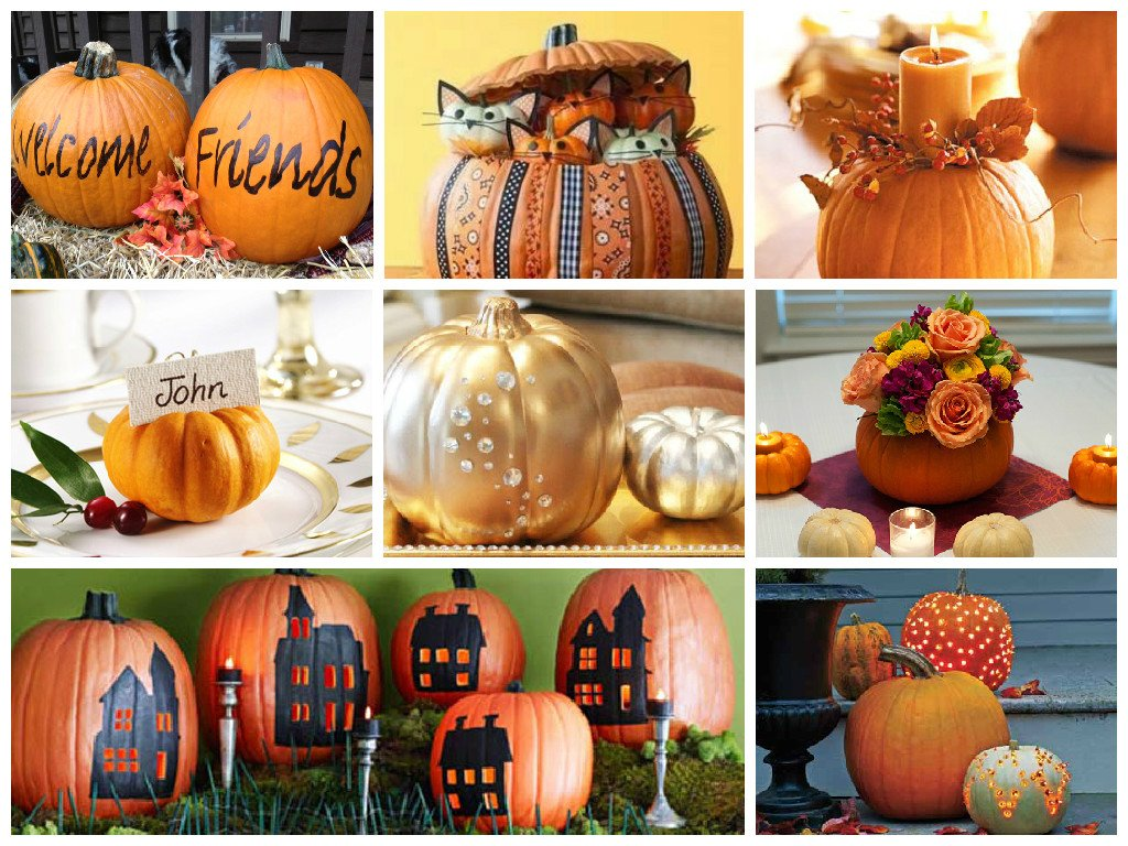 How to decorate pumpkins